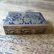 Vintage brass and inlay box (PM)