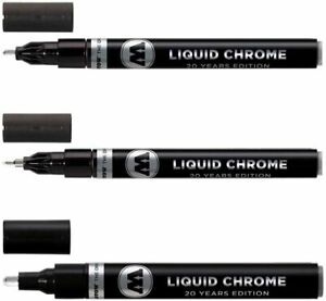 Molotow Liquid Chrome Marker Set - 1mm, 2mm and 4mm - 3 Pens Total and FREE SHIP