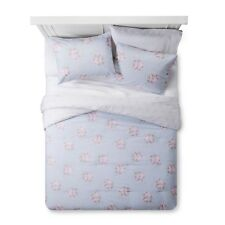 Simply Shabby Chic Blue White Pink Rose Floral Comforter Set - Twin