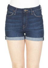 Lee Damen Jeans Short High Short -Blau - Dark Urban Indigo
