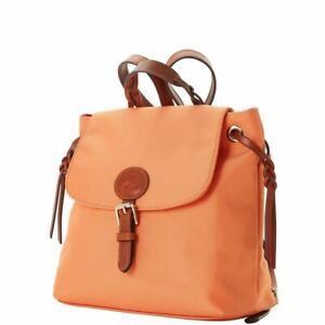 Dooney & Bourke Nylon Flap Backpack Organge