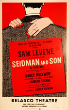 SEIDMAN AND SON — 1962 Broadway Theater Window Card Poster; Sam Levine