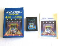 Atari Video Pinball w/ Box & Manual & Cartridge Cart CX 2648 Warner Tested
