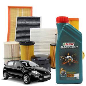 Kit tagliando filtri e olio Fiat Grande Punto Qubo 1.2 benzina 1.4 metano