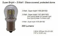 1157 LED Auto Bulb - Super Bright 3 WATT LED Bulb - Protective Shell - BAY15D Ba