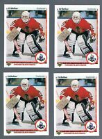 (10) 1990-91 Upper Deck Ed Belfour Hockey Cards RC #55 Excellent centering