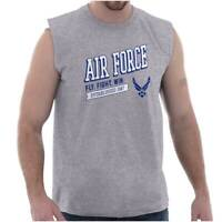 Air Force Fly Fight Win 1947 USAF Military Adult Sleeveless Crewneck T Shirt