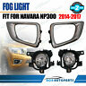 Fog Light Kit for Nissan Navara D23(NP300) 2015-2017 with Wiring & Switch