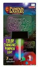 Pumpkin Masters Trick or Treat Color Changing Light 7 Effects Modes Halloween