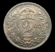 More details for edward vii 1902 silver maundy twopence - unc