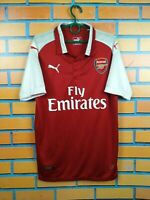 Arsenal Jersey 2017 2018 Home MEDIUM Shirt Puma Football Soccer