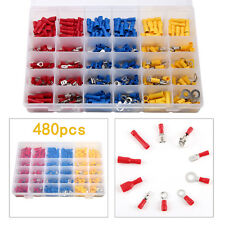480X Insulated Spade Electrical Crimp Wire Cable Butt Connector Terminal Kit Set