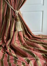"""Colefax & Fowler Blanket Interlined Curtains SILK 92""""w 115""""d ~More pairs avail."""