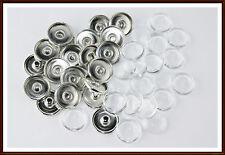 20x Set Cabochons + Rohlinge Clicks Buttons Chunks