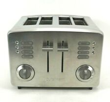 Cuisinart 4 Slice Bread Bagel Toaster Stainless Steel RBT-385 Office Kitchen