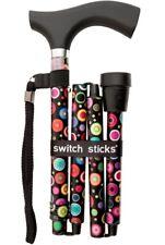 Folding Bubbles Switch Sticks Walking Cane In Presentation Box