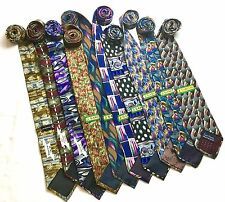 Vintage Jerry Garcia Grateful Dead Necktie 100% Silk Men's Tie Lot of 10