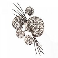 74993 Tischdeko Wanddeko Purley Leaves Metall braun silberfarben Antikfinish