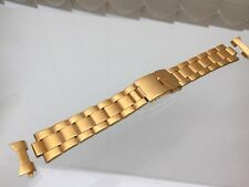 Accurist Stainless Steel Watch Strap Gold tone 20mm High quality Genuine!