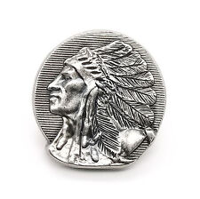 "Left Facing Chief Head Concho Antique Nickel 1-1/4"" 3665-21 by Stecksstore"