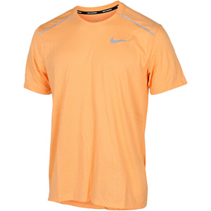 Nike Breathe Rise 365 Orange Reflective Running Shirt Men's M/medium CT7749-882