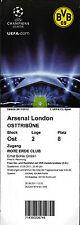 ticket ec i 2011/12 borussia dortmund-arsenal london 13.09.2011