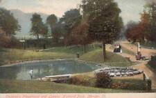 Antique POSTCARD c1907-15 Childrens Playground Hubbard Park MERIDEN, CT 16916