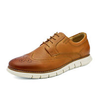 Men's Genuine Leather Casual Formal Sneakers Lace up Business Oxford Dress Shoes