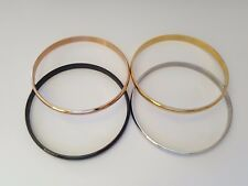 NEW Solid 316L Surgical Stainless Steel Bangles Beautiful Finishes Children
