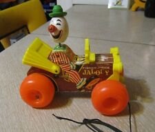 VINTAGE FISHER PRICE JOLLY JALOPY #724 PULL TOY CLOWN CAR FISHER PRICE