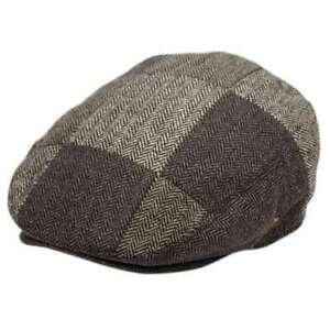 Herringbone Check Patchwork Wool Ivy Cap - Epoch Hats