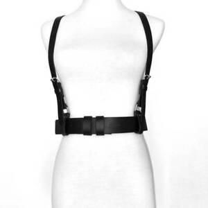 Body Women's Punk Waist Belt Adjustable Slim Wide Ladies PU Leather Harness N3