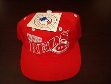 CINCINNATI REDS THE GAME BARS MESH  SCRIPT NEW VINTAGE 90'S HAT CAP  SNAPBACK