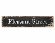 SP0541 PLEASANT STREET Street Sign Home Room Cafe Store Shop Bar Chic Decor Gift