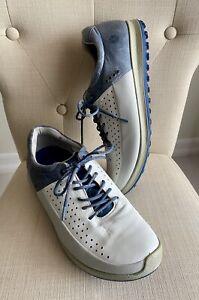 ECCO Bio Natural Motion Golf Shoes White/Gray/Blue Size EU 44  US 10, 10.5