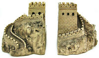 Zeckos Great Wall Of China Sculptural Book Ends Bookends