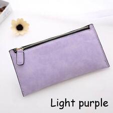 Fashion Women Lady PU Leather Clutch Wallet Long Card Holder Purse Handbag Light Purple