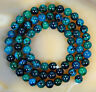 6mm Natural Lapis Lazuli Chrysocolla Gemstone Round Loose Beads 15''