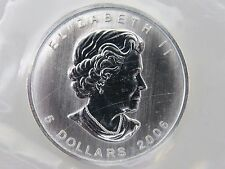 2006 SILVER MAPLE LEAF $5 CANADIAN CANADA COINS 1 oz UNCIRCULATED MYLAR POUCH