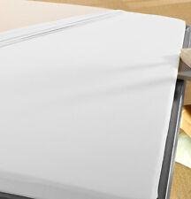 Spann Betttuch 180x200 bis 200x200 cm Premium Jersey WEISS