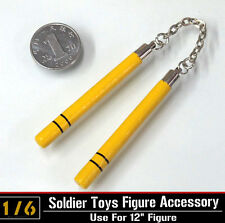 """1:6 ZYTOY Model Chinese Martial Arts Nunchuck Wood&Metal for 12"""" Action Figure"""