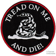 DON'T TREAD ON ME GADSDEN FLAG iron-on PATCH embroidered TEA PARTY AMERICAN ICON