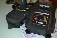 New 18v Ryobi P102 Lithium Battery and 18 volt P118 Charger One+ for drill saw