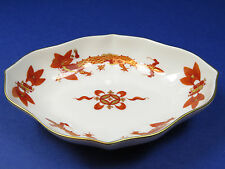 Vintage Meissen Red Court Dragon Pin Dish