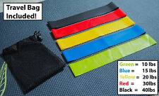 5PCS Exercise Resistance Loop Bands Fitness Stretch Strength Physical Therapy