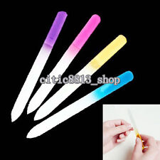 2x Pro File Manicure Device Tool Durable Crystal Glass Nail Art Buffer File Cool