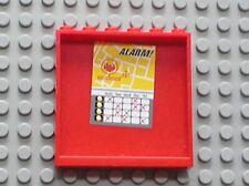LEGO Red Panel 1x6x5 ALARM! Schedule Sticker 59349pb019 Set 7208 Fire Station