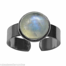 Cabochon Brass Solitaire Costume Rings