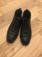 COS Black Leather Flat Boots Size 5