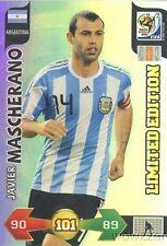 10 Panini Adrenalyn XL FIFA WorldCup Javier Mascherano Limited Edition Argentina